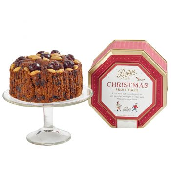 Cherry & Almond Fruit Cake in a Tin