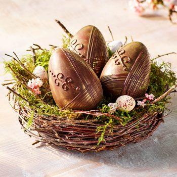 Dark Chocolate Shimmer Eggs In Nest Lifestyle