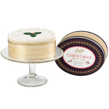 Iced Christmas Cake in a Tin
