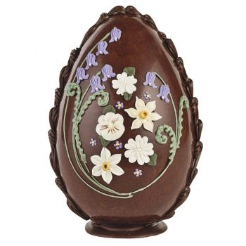 Large Spring Flowers Easter Egg