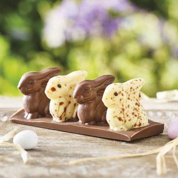 Milk And White Chocolate Rabbits