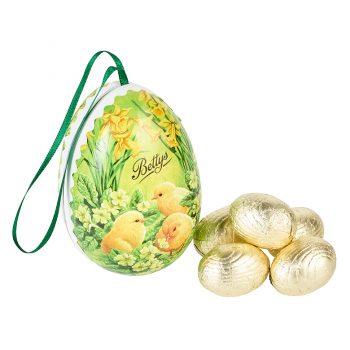Papier Mache Egg With Milk Chocolate Eggs