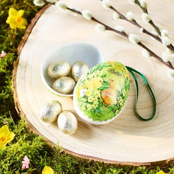 Papier Mache Egg With Milk Chocolates Lifestyle