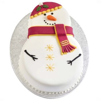 Snowman Chocolate Cake