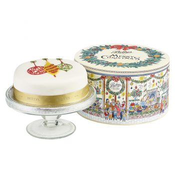 Soft Iced Baubles Christmas Cake In A Tin