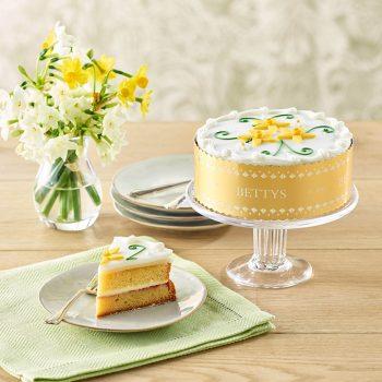 Spring Flowers Cake Lifestyle