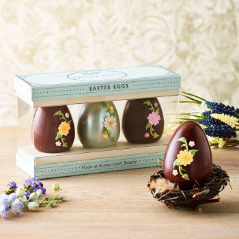 Trio Of Spring Flower Eggs Lifestyle