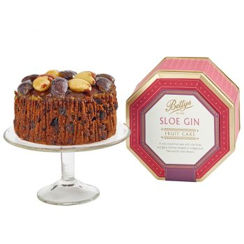 Yorkshire Sloe Gin Fruit Cake in a Tin